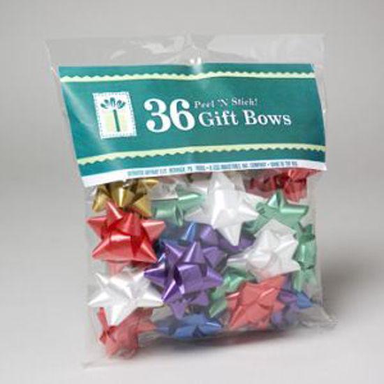 Peel N Stick Christmas Bows - 36Pk