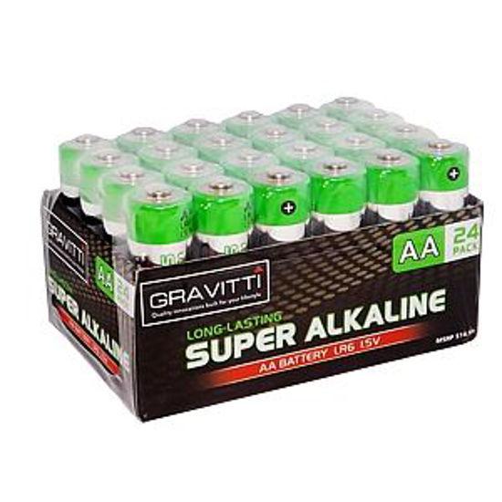 Gravitti Super Alkaline Aa Batteries - 24 Pack