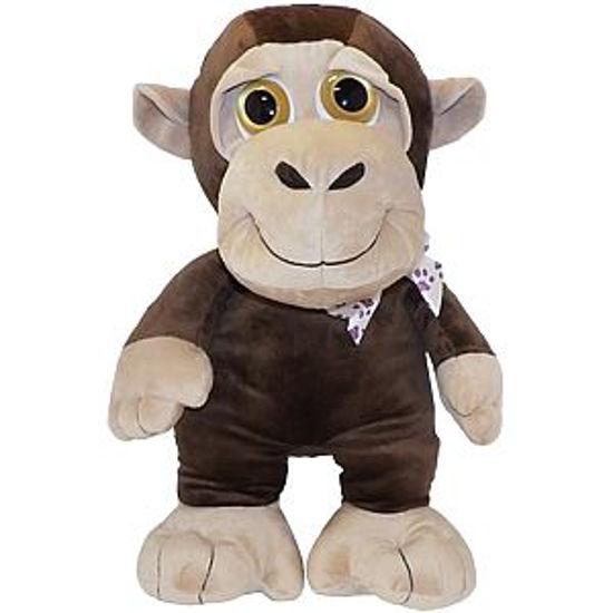 """Gravitti 22"""" Big Eyes Plush Monkey"""