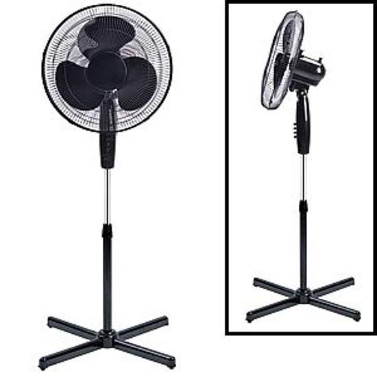 "Gravitti 16"" 3 Speed Oscillating Stand Fan-Black"