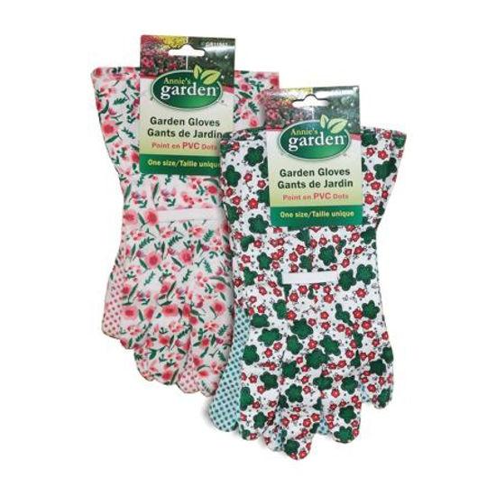 Womens Pvc Printed Garden Gloves