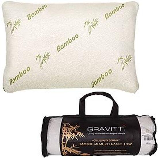 Gravitti Bamboo Memory Foam Pillow (Queen)