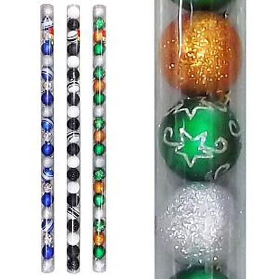 CHRISTMAS TREE ORNAMENT BALLS 60MM 21PK-ASSORTED