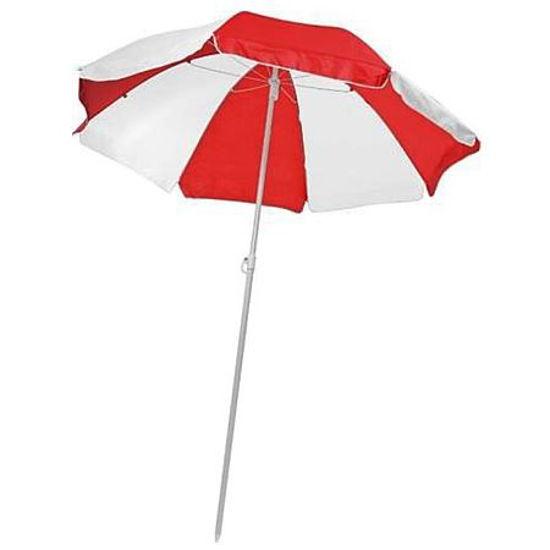 "68"" Beach Umbrella Red/White"
