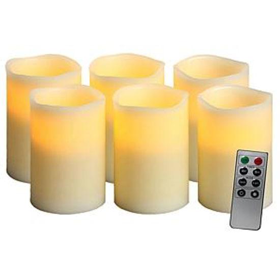 Gravitti Flameless Led Ivory Candles W/8 Key Remote-6Pc