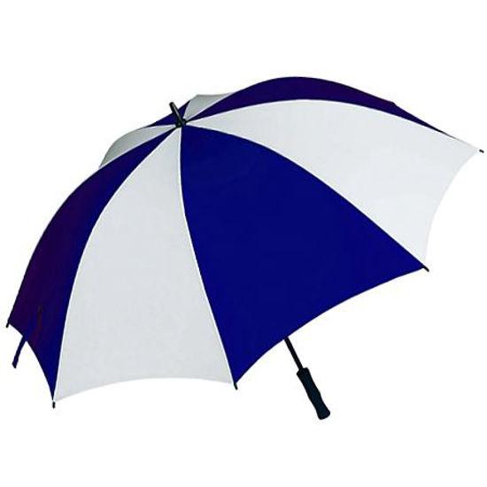 """Gravitti 60"""" Golf Umbrella W/Rubberized Handle-Blue/White"""
