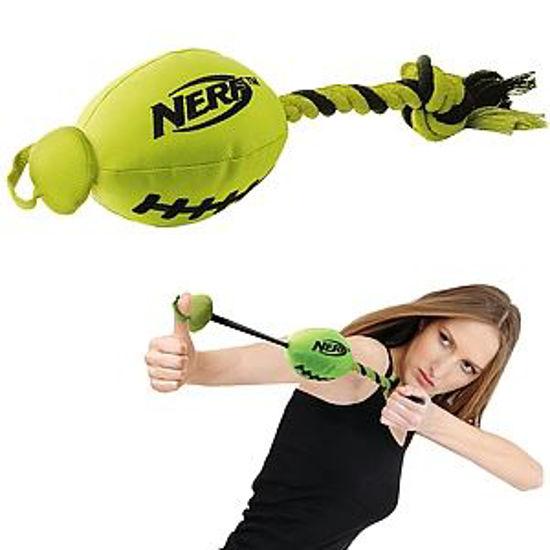 Nerf Football Slinger Dog Toy- Yellow