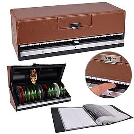 DISCGEAR SELECTOR 120-DISC MEDIA CASE (BROWN)
