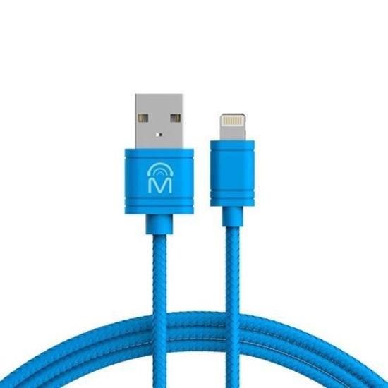 Mental Beats 10Ft Tangle-Free Mfi Lightning Cable (Blue)