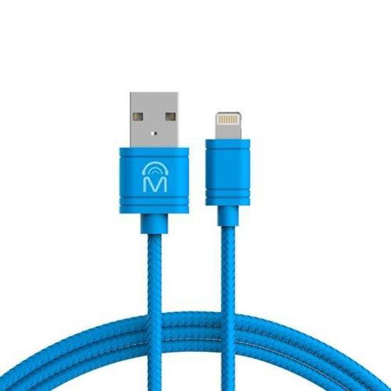 Mental Beats 6Ft Tangle-Free Mfi Lightning Cable (Blue)