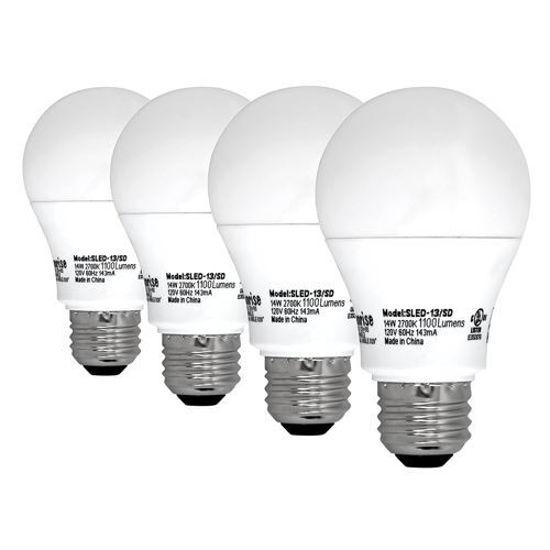 Sunrise A19 75W Cfl Light Bulbs- 4 Pack