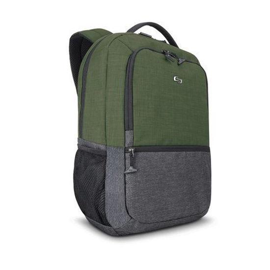 "Solo Veolocity 15.6"" Laptop Backpack (Green/Grey)"