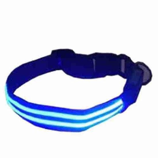 4Id Weatherproof Led Lite Up Dog Collar (Blue) (Medium)