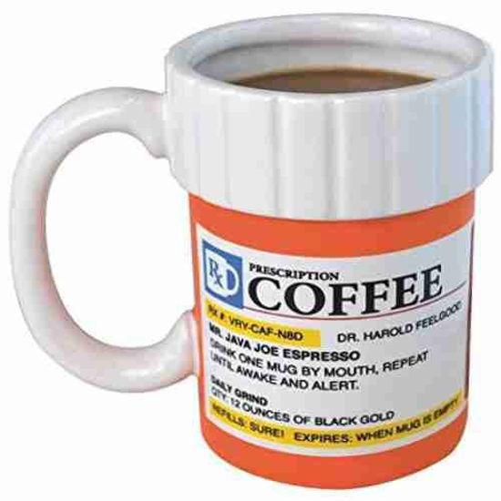 12Oz Prescription Bottle Shaped Mug