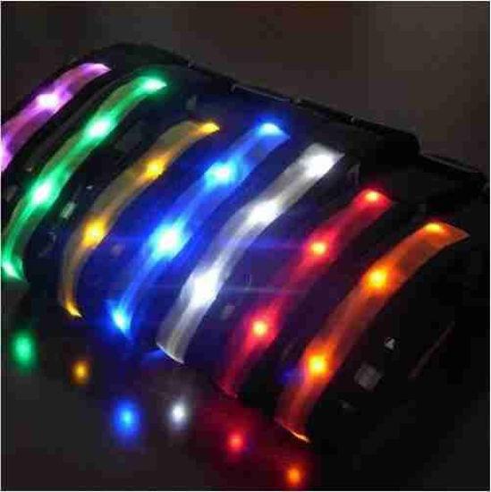 "Dog Collar With Flashing Led Light- 4""-7"""