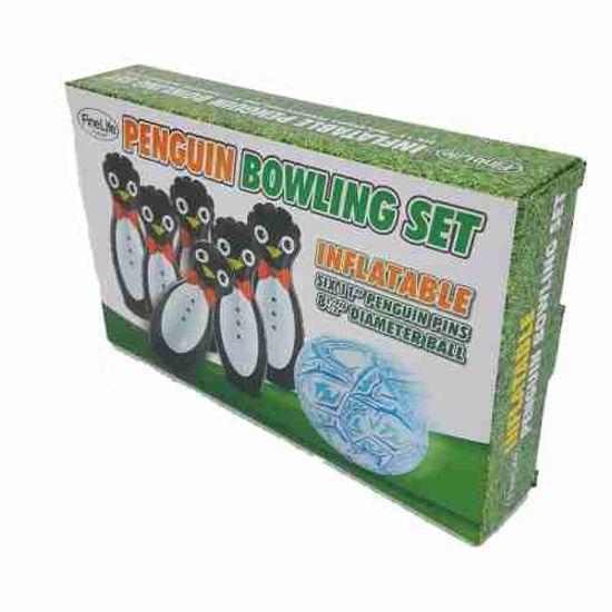 "11"" Penguin Inflatable Bowling Set- 7Pc"