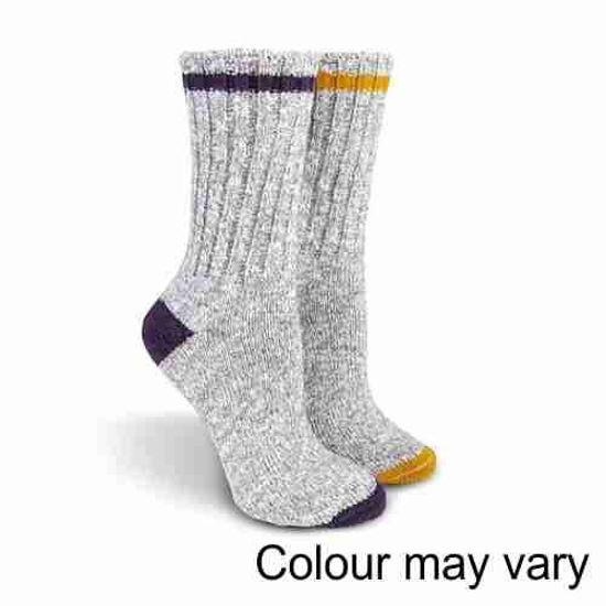 Trufit 2Pk Ladies Outdoor Socks- Assorted