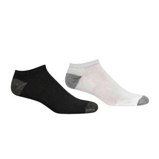 Starter Mens 10 Pack No Show Socks- White/Black