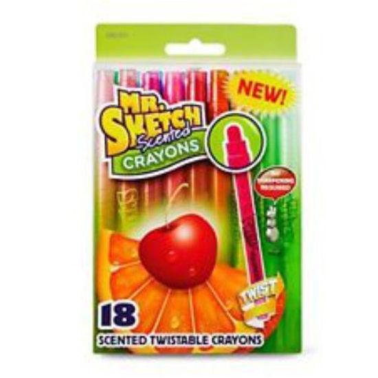 Mr. Sketch Scented Twistable Pencil Crayons-8Pk