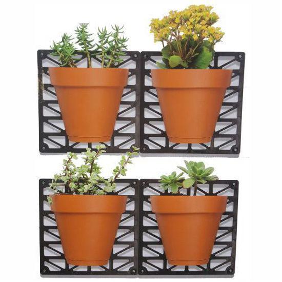 4 Pot Wall Mount Planter Set