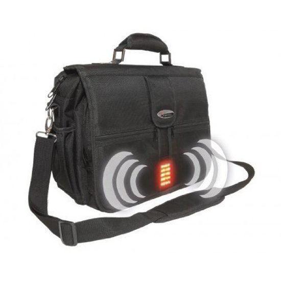 """Isafe Built-In-Alarm 15.4"""" Laptop Messenger Bag"""