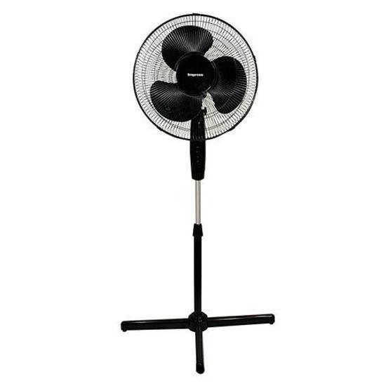 "Impress 16"" Oscillating Stand Fan - Black"