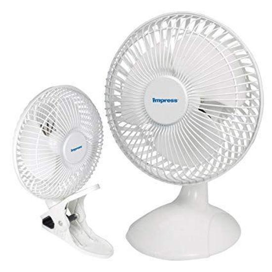 "Impress Im-706Dp 6"" Dual Purpose Clip/Desk Fan"