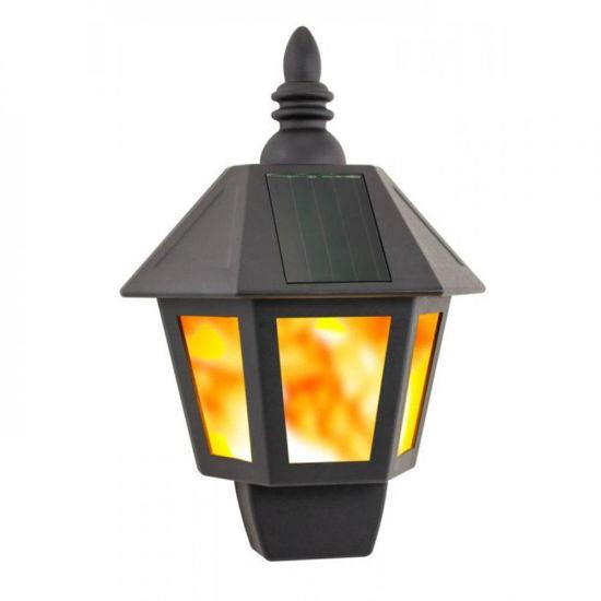 Solar Powered Fire Wall Lantern
