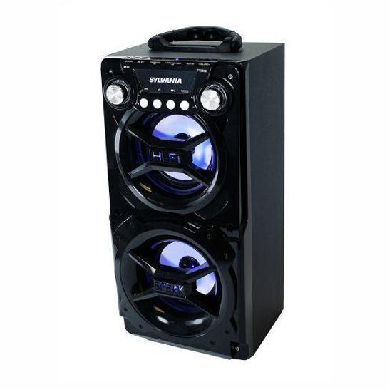 "Sylvania Sp328 4"" Bluetooth Stereo Speaker (Black)"