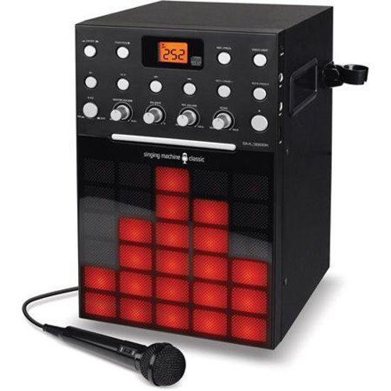 Singing Machine Sml388 Karaoke System W/Cd/Aux/Led