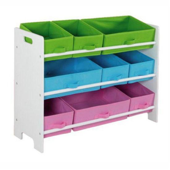 """Toy Organizer Canvas W/ 9 Bins - 33.6""""X11.6""""X23.6"""""""