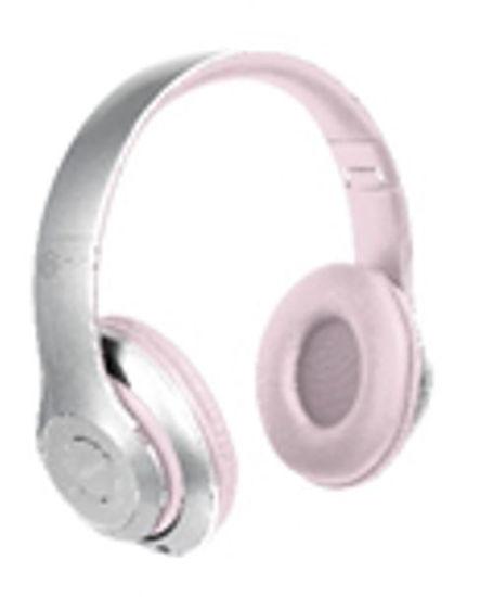 Biconic Chrome Foldable Bluetooth Headphones (Sl/Pk)