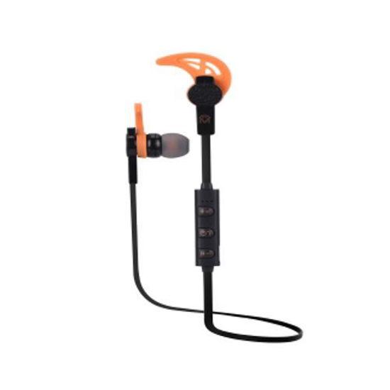 Mental Beats Net Sweatproof Bluetooth Earbuds W/Mic (Bk/Or)