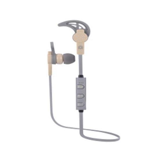 Mental Beats Net Sweatproof Bluetooth Earbuds W/Mic (Tn/Gy)