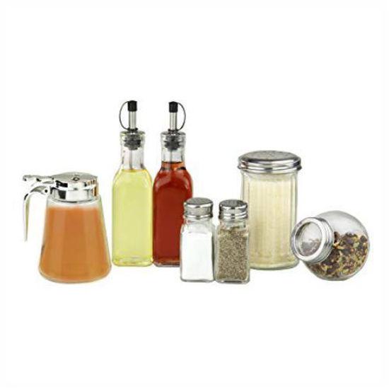 Glass Condiment Set - 7Pcs