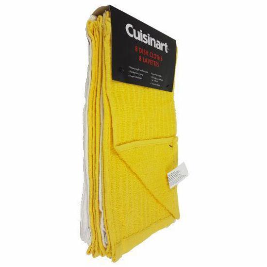 "Cuisinart 12""X12"" Dish Cloths Yellow/White - 8Pk"