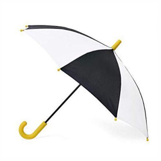 "Kid's Clear 23.5"" Umbrella - Black/White"