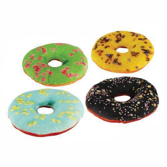 Donut Dog Toy - 4Pk