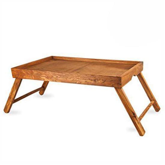 Pine Lap Table Tray W/Folding Legs