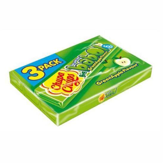 Chupa Chups Bubble Gum 3Pk - Green Apple