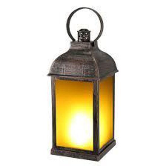 "Led Glow Lantern - 11"" W/Automatic Timer"