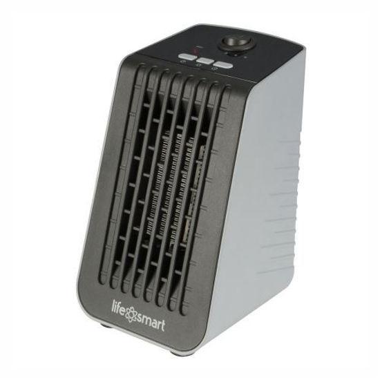 Life Smart Desktop Personal Heater - Gray