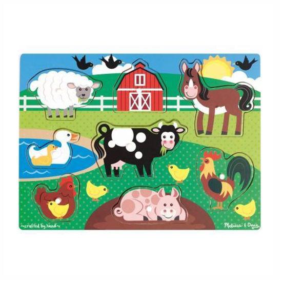 Melissa & Doug Wooden Peg Puzzles - Animals
