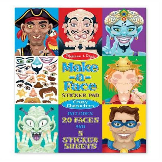 Create-A-Face Sticker Book - Assorted
