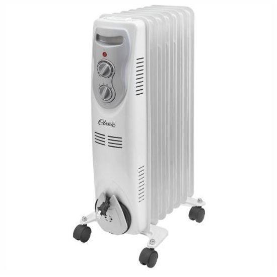 Debranded Classic 7 Fin Oil Heater (White)