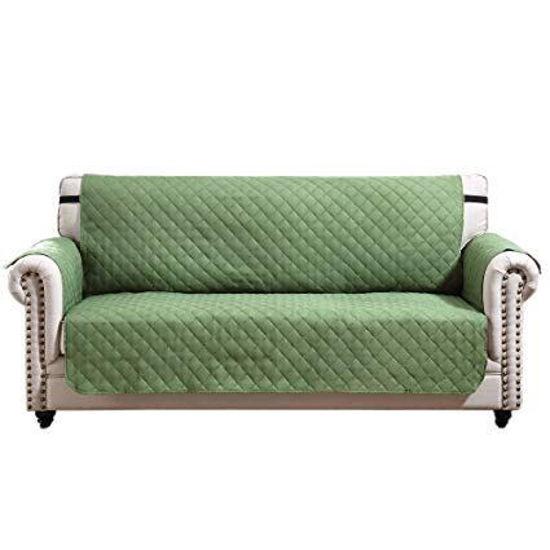 "Microfiber 2 Seater Sofa Cover - 76X88"" - Sage"