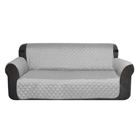 "Microfiber 2 Seater Sofa Cover - 76X88"" - Grey"