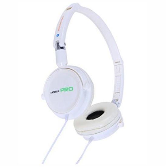 Pilot Ca-4214W Foldable Over-Ear Stereo Headphones, Wht