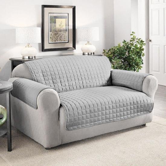 "Microfiber 3 Seater Sofa Cover - 76X110"" - Grey"