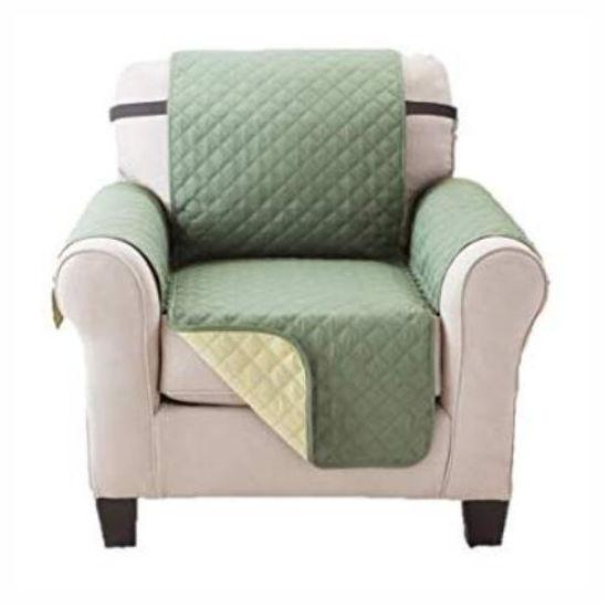 "Microfiber Single Seater Sofa Cover - 70X65""-Sage"
